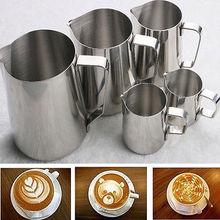 Fantastic Kitchen Food Grade Stainless Steel Espresso Coffee Pitcher Latte Milk Frothing Jug Barista Craft 150/350/600/1000ML