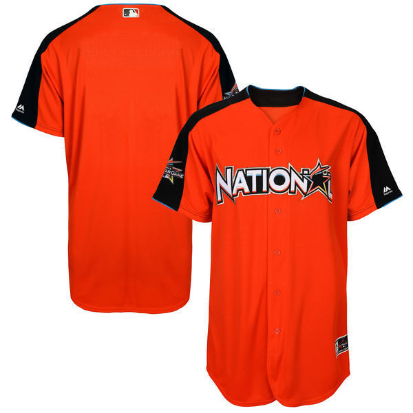 MLB Mens National League Baseball Orange 2017 MLB All-Star Game Authentic On-Field Home Run Derby Team Jersey
