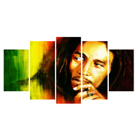 5 piece canvas art Bob Marley The first poster and prints canvas art modular painting home wall games artwork poster portrait