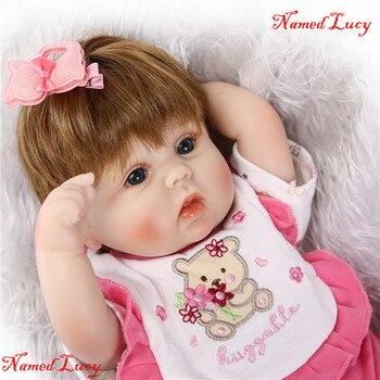 Bebe doll reborn NPK 40CM cute girl silicone reborn baby dolls child new year gift birthday present bonecas