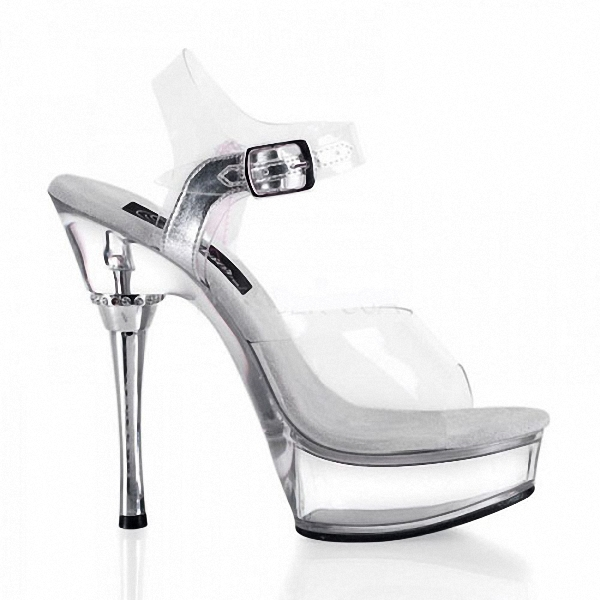 Full Clear Crystal 14CM Super High Heel Platforms Pole Dance/Performance/Star/Model Shoes, Wedding Shoes classic black plus size 15cm super high heel shoes platform sandals slippers pole dance shoes wedding shoes