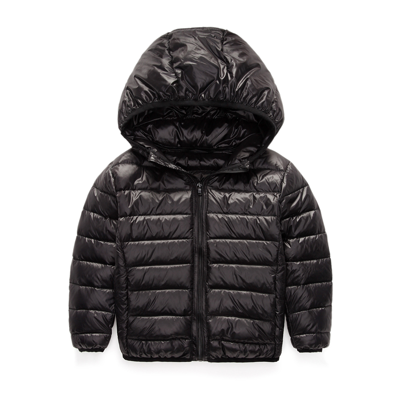 2-12Y Ultra light boys down jacket for girls white duck down parkas 90% down winter warm children coat big boys girls clothes winter children down suit long zipper solid white duck down boys girls down jackets thickening jacket pants two piece clothes