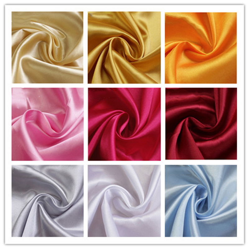 1 Yard 150*97cm Polyester Satin Fabric Wedding Satin Fabric for Sewing and Party Decoration C image