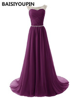 Burgundy Prom Dresses 2016 Vestidos De Formatura Cheap A Line Chiffon Crystals Evening Party Dresses Long
