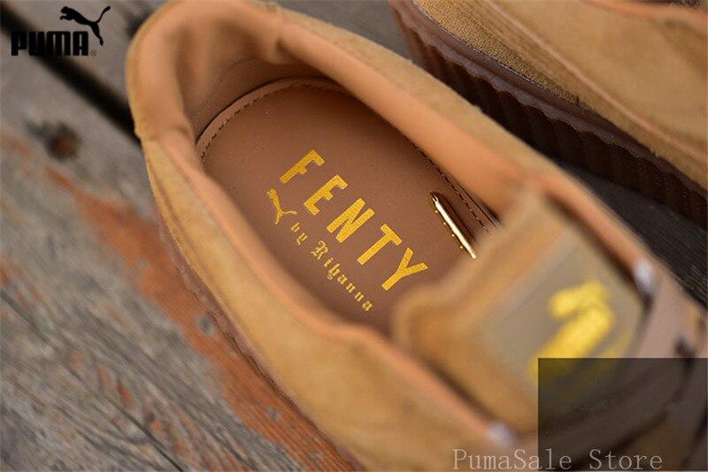watch cc307 b9f72 Original Puma By Rihanna Khaki WMNS Creeper Men Shoes Thick bottom  Badminton Shoes Fenty Women Sneakers Size EUR35-44