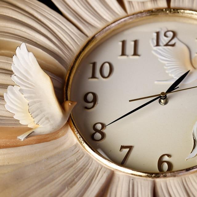 Handpainted Large Wall Clocks Flower Design Petal DIY Home Clock For Living Room