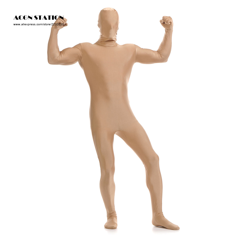 24h freeshipping 2017 Nude Lycra Spandex Zentai Suit for Men Green Giant Halloween Jumpsuit Romper Rush order/Same day shipping/