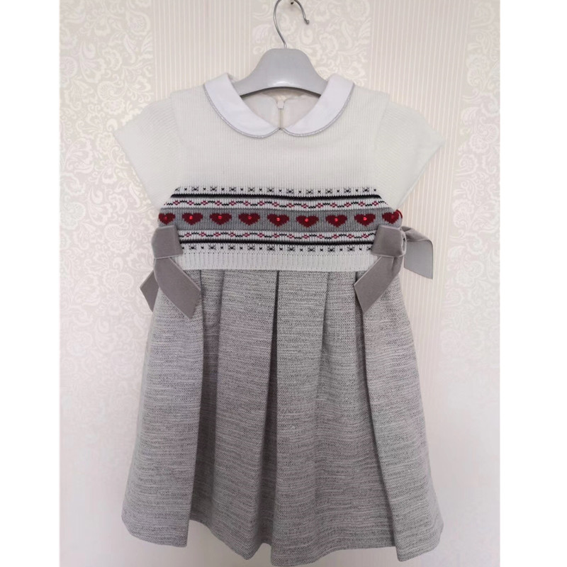 Girl Princess Sweater Dress New 2018 Spring Autumn Knitted Cute Vintage Style Baby Dress Kids Knee Length Dress For Infant Girl