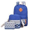 Conjunto Lienzo de Impresión Mochila Mujeres Mochila mochila Lindo Mochilas de La Escuela Secundaria Media de Peso Ligero para Chicas Adolescentes