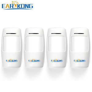 Image 1 - Free Shipping 433MHz Wireless Motion Detector 4 pieces include, PIR Sensor Alarm, For Wifi GSM Alarm System in my store