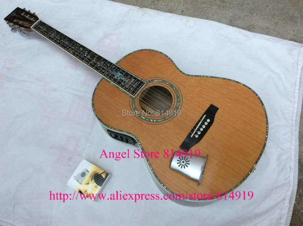 all Solid wood Guitar 39 inches Classic Acoustic Guitar Top AAA Solid Red CedarT Back Side
