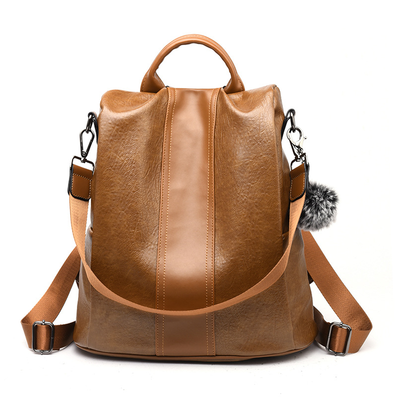PU Leather Women Backpack Fashion School Bags For Teenager Girls Large Casual Anti-theft Black Brown Travel Backpacks PU Leather Women Backpack Fashion School Bags For Teenager Girls Large Casual Anti-theft Black Brown Travel Backpacks