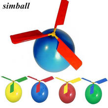 Globo de helicóptero creativo portátil para jugar al aire libre, juguete volador, fiesta de cumpleaños decoración para, suministro de fiesta para niños, regalo para niños, 5 uds.