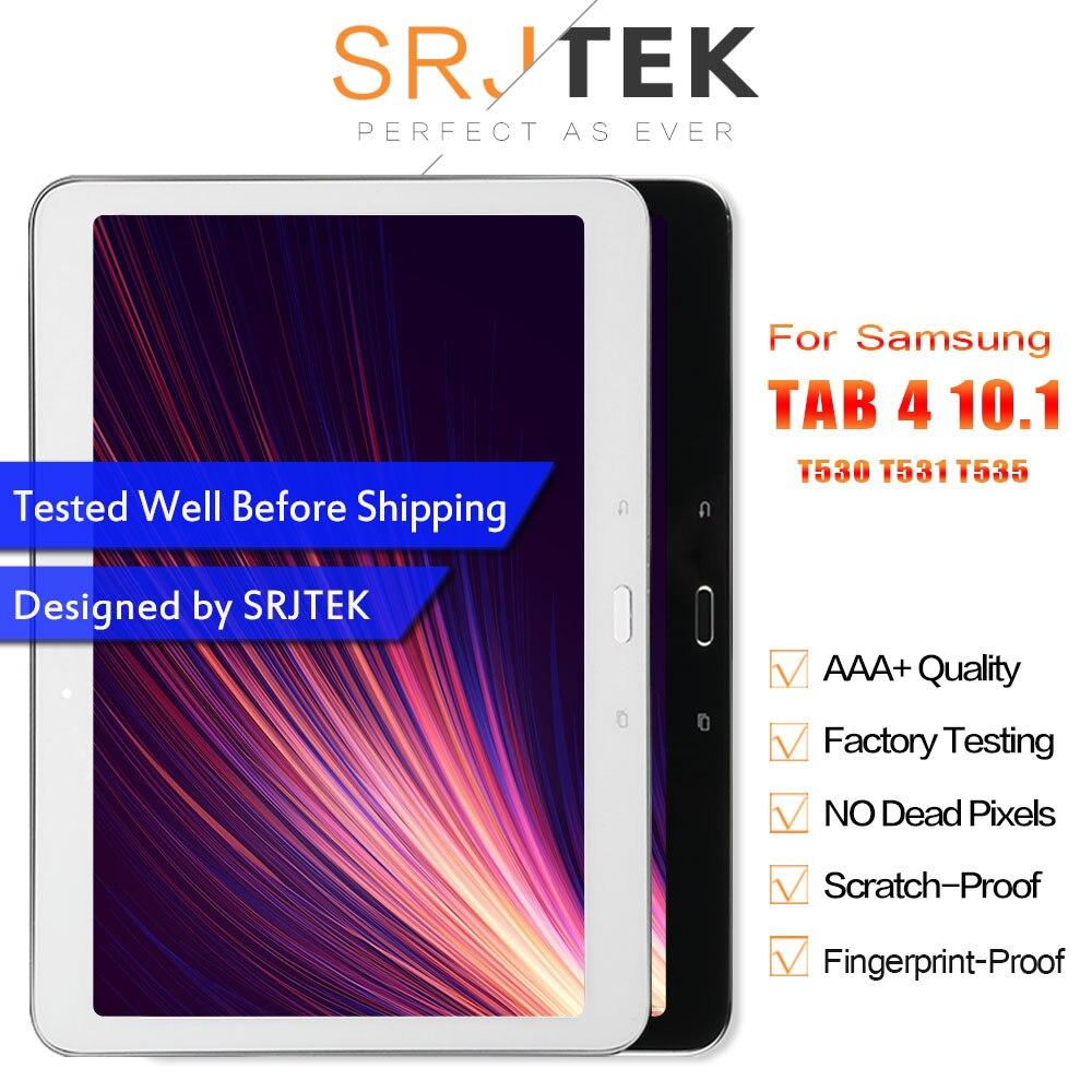 Pour Samsung Galaxy Tab 4 10.1 T530 T531 T535 SM-T530 tablette PC écran d'affichage LCD avec assemblage de numériseur en verre tactile avec cadre