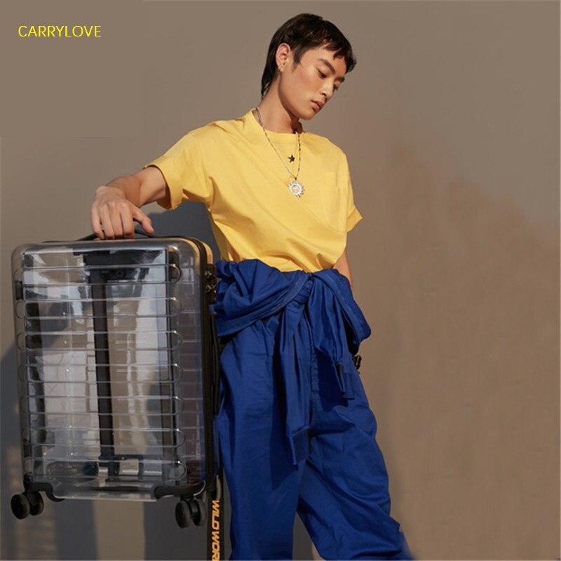 CARRYLOVE Il Nuovo Ultima moda di lusso Trasparente valigia 20/22/24/26 pollici formato PC Trolley Spinner di marca-in Valigia a rotelle da Valigie e borse su  Gruppo 1