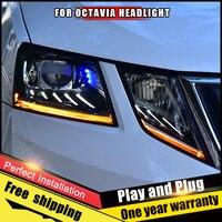 new headlight Assembly for Skoda Octavia led headlights 2018 2019 for Octavia led drl led turn signal Bi LED Lens Projector