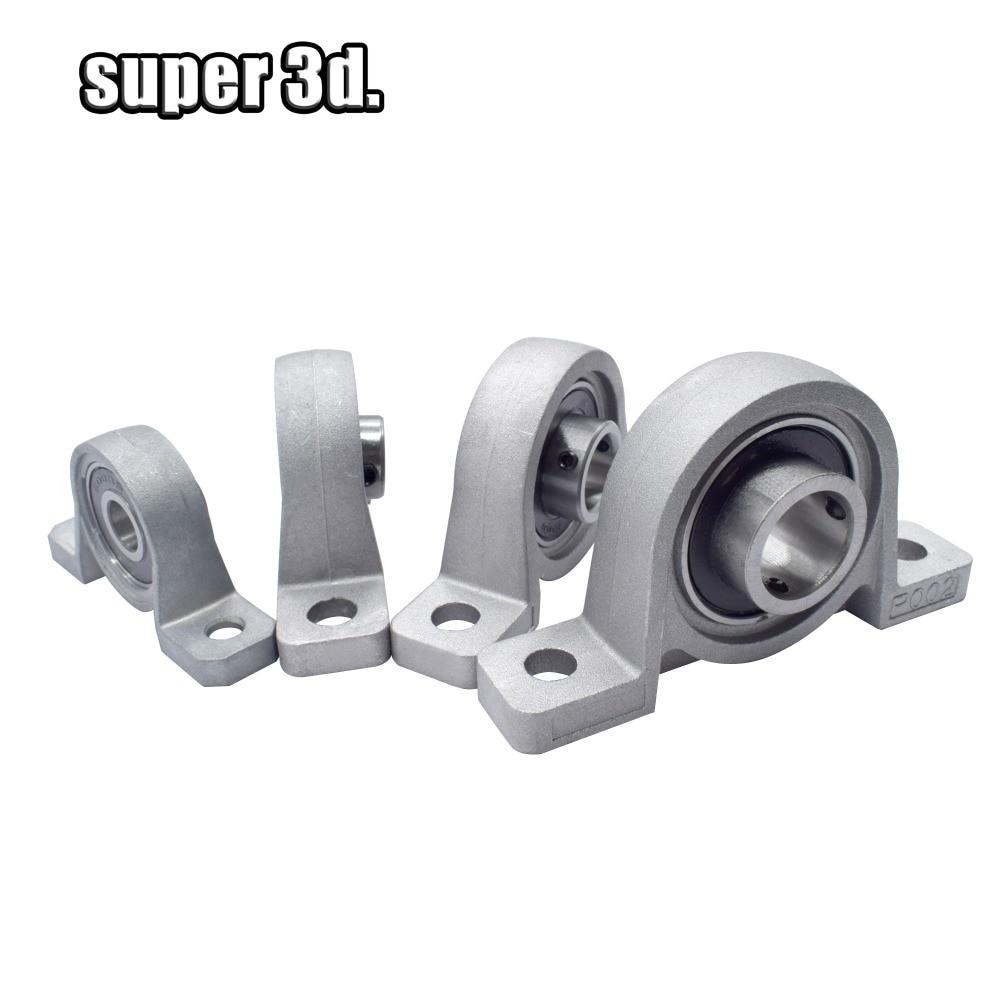 2 Pcs 12mm Diameter Bore Ball Bearing Pillow Block Mounted Support KP001 tech