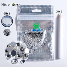 SS6 2MM Multicolour Clear Glass Nail Art Rhinestone Crystal , Free Gift :Point Drill Pen + Miniature Pixie Nails Beads