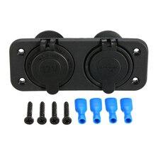 High Quality 12V Dual USB Charger Power Adapter Cigarette Lighter Socket Splitter Outlet With Voltmeter Digital for Motorcycle