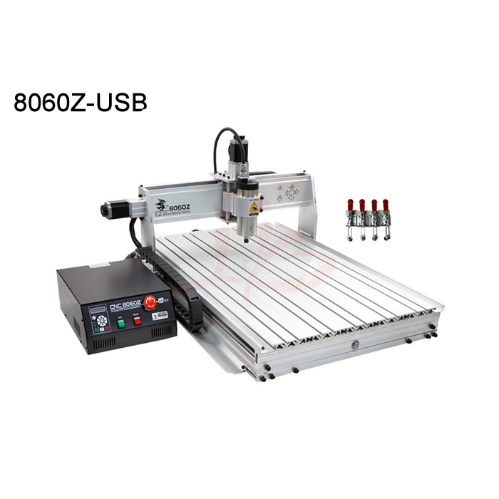 NEW big area cnc milling machine 8060 USB port 1.5KW Powerful Brushless frequency spindle work stroke 585*790*65mm cnc dc spindle motor 500w 24v 0 629nm air cooling er11 brushless for diy pcb drilling new 1 year warranty free technical support