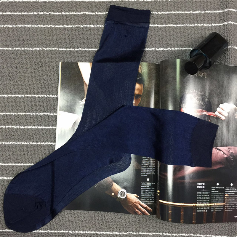 SORRYNAM 2017 Free Shipping Business Men Gay Socks Stockings Socks Men Thins Silk Mens Stocking