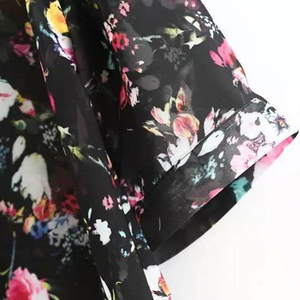 Picture D'été as Porter Yrd Imprimé Sunproof Manteau Picture Soie Floral Mousseline Cardigan Mode Femmes Bikini Bain Kimono As De wwUBqA