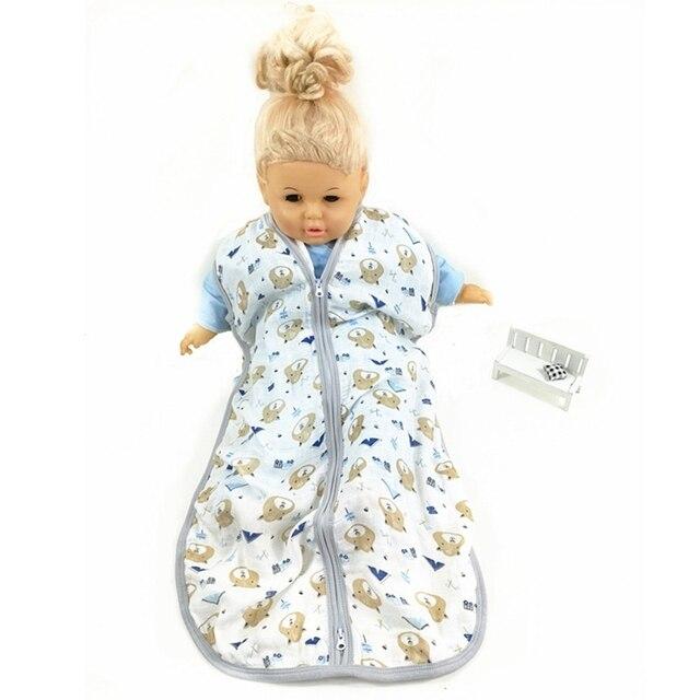 Bebé saco de dormir sin mangas de algodón de bambú de muselina gasa chaleco Sleepsacks Primavera Verano otoño 80 cm longitud de 12-18 meses bebé