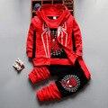Conjuntos de Roupas crianças Primavera Outono Inverno Meninos Da Criança Do Bebê Roupas T-shirt Com Capuz Jaqueta Casaco Calças 3 Pcs Spiderman