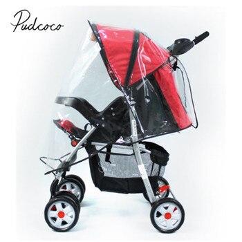 2018 Brand New Baby Stroller Raincover Universal Pushchair Pram Buggy Rain Cover Transparent Rain