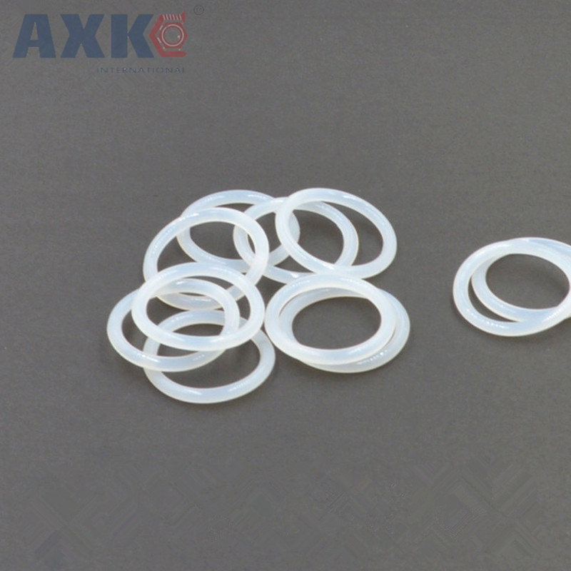 AXK White Silicon O Ring Gasket 2.5mm Thickness Food Grade Rubber O Rings Seals Gasket Washer OD 47/48/50/52/54/55/58/60/62/65mm white silicon o ring seals gasket food grade 2 5mm thickness 37 38 39 40 41 42 43 44 45 46mm od o rings sealing gasket washer