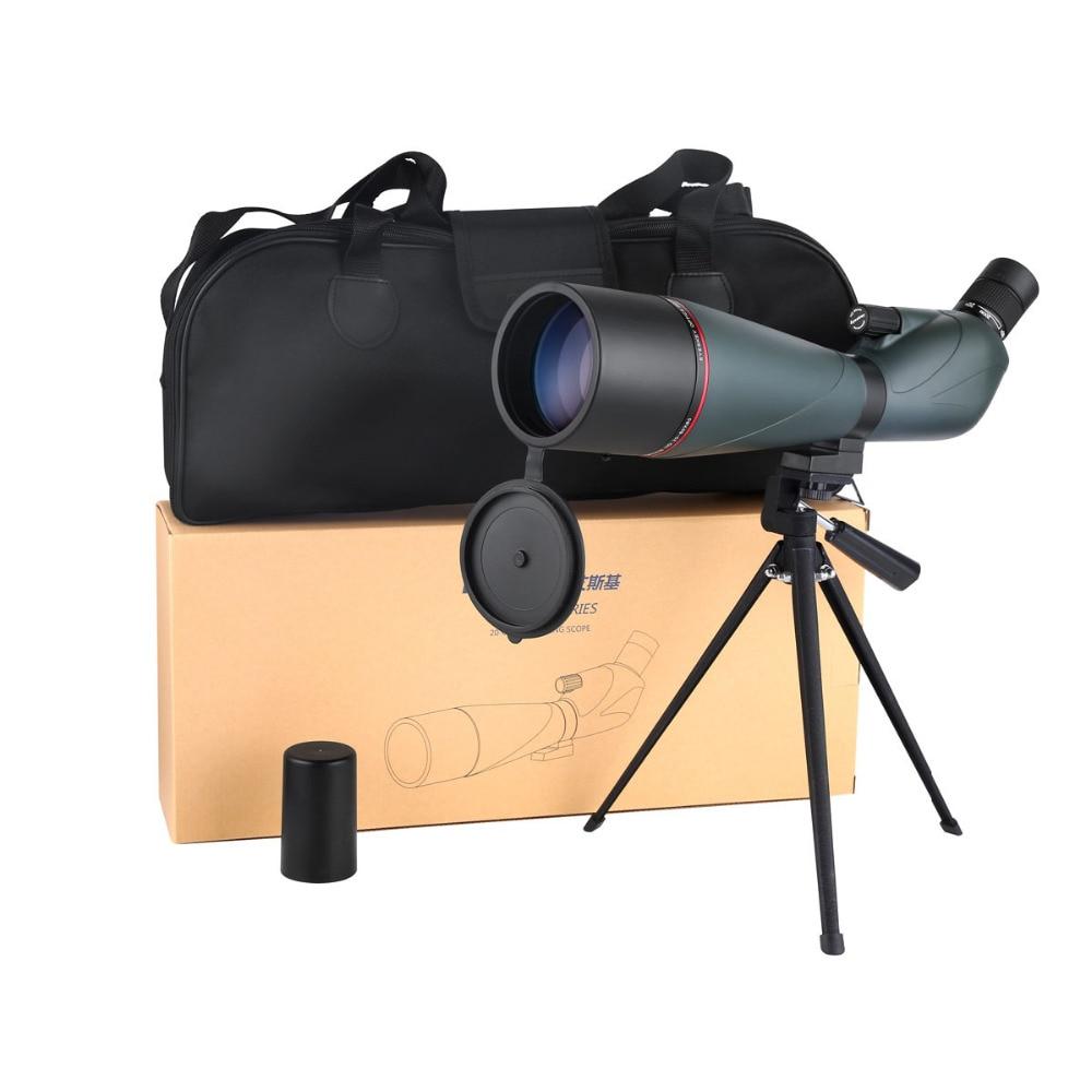 Eyeskey Spotting Scope Zoom 20-60X80 FMC Telescope Monocular BAK4 Spotting Scopes Waterproof Telescope & Tripod Optics W2558 outdoor hunting birdwatching spotting scope with portable tripod high powered zoom monocular telescope spotting scopes 12 36x50