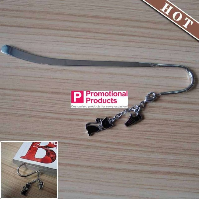 (wholesale or retail )logo printing newest stylish Bookmark with  charms shoes pendent  aliexpress