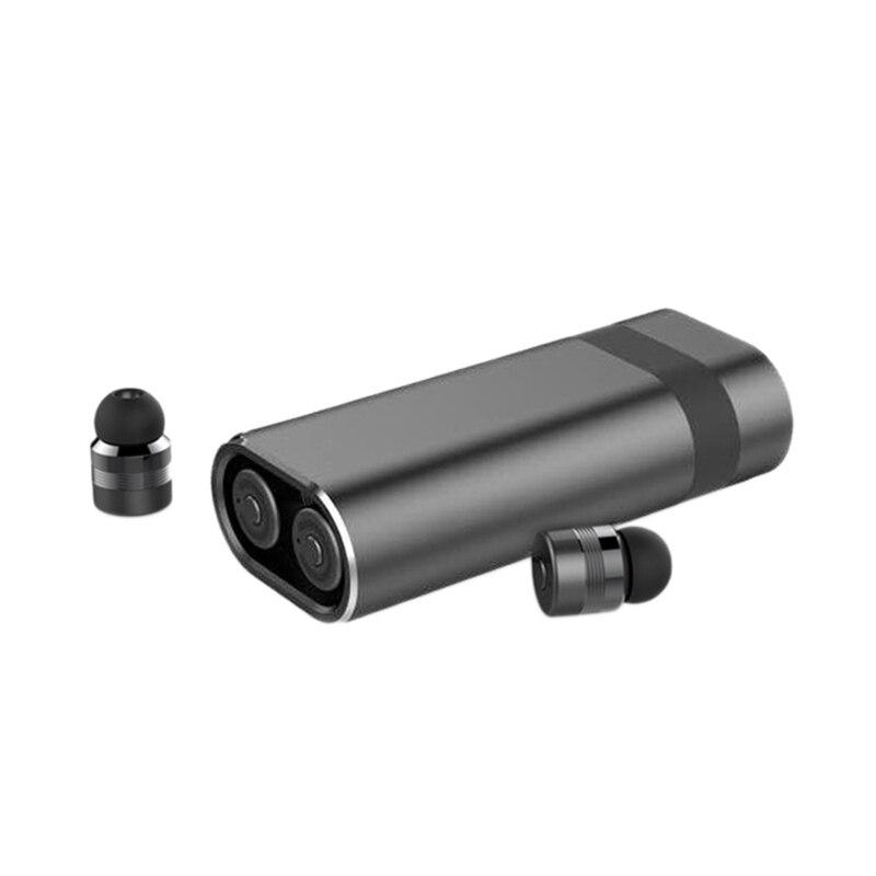 Tws Mini Bluetooth écouteurs mains libres véritable sans fil Binaural écouteur charge rapide 2000 Mah batterie externe Cvc Isolation du bruit