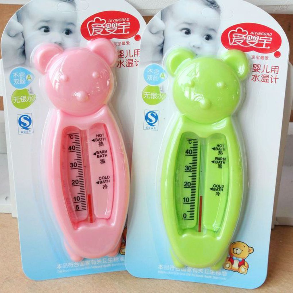Bath Thermometer For Newborn Small Bear Water Temperature Meter Bath Safe For Baby Care