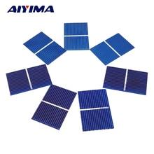 Carregador de Bateria Aiyima 100 PCS Painel Solar Sunpower Painéis Fotovoltaicos Policristalinos Célula DIY 0.5 V 0.17 W 39*26mm