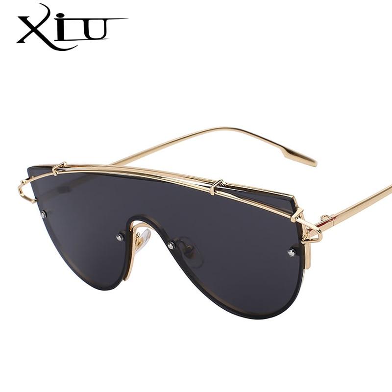 XIU Extragrande Mulheres Óculos de Sol Da Marca Óculos de Designer de Moda  Retro Vintage Estilo 75a6f6a2be