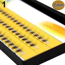 Для женщин Pro Макияж 60 шт. кластеры Красота ресницы прививка поддельные Накладные ресницы Быстрая доставка