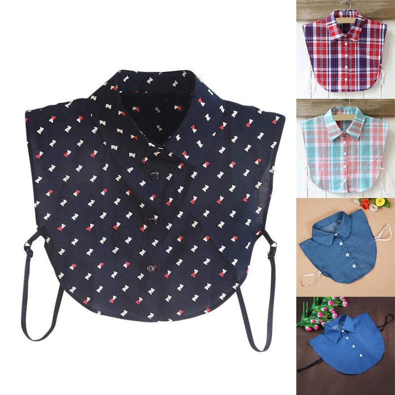 Fake Collar Classic Plaid Check Lapel Fake False Collar Detachable Half Shirt Casual Shirt Fake Collar Clothes Accessories Utmost In Convenience Boy's Accessories