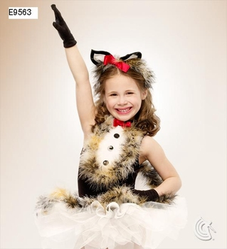 2018 Foreign Trade New Stage Small Fox Ballet Dance Dress Feather For 90cm-140cm