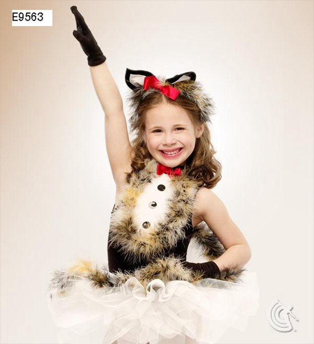 2018 Foreign Trade New Stage Small Fox Ballet Dance Dress Feather For 90cm 140cm