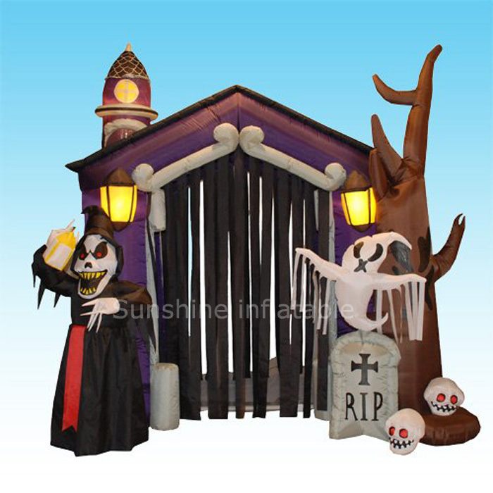 giant outdoor inflatable halloween archinflatable arch for halloweenhalloween decoration arch for party - Outdoor Inflatable Halloween Decorations