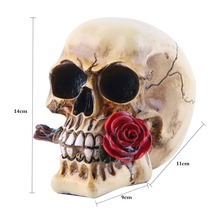 2018 Limited Real Mrzoot Resin Craft Statues For Decoration Skull Rose Valentines Hotel Love Gift