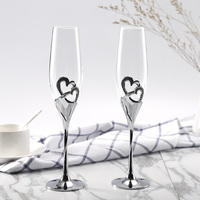200 ML 2 cái Champagne Flutes Wine Glass Tinh Thể Luxury Wedding Party Nướng Kính Cốc Pha Lê Thiết Kế Kim Cương Gi