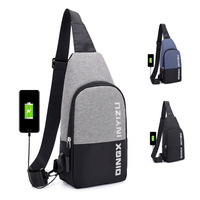 Man USB Charging Smart Backpack Waterproof Single Shoulder Bags Male Antitheft Chest Bag Leisure Messengers School Bag Bagpack