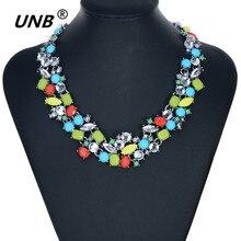 2016 diseño moda gargantilla collar corto populares pendiente grande cadena de clavícula collar de colores de la mujer delicado de la joyería del banquete