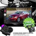 НОВЫЙ 7 дюйма TFT экран HD автомобильный радиоприемник bluetooth MP3 MP4 MP5 12 В аудио плеер автомобиля стерео Поддерживает заднего вида камера TF/SD 1 DIN