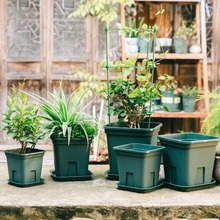 купить 1pc potted plants for office decoration flower pots planters for succulents indoor herb garden home accessories дешево