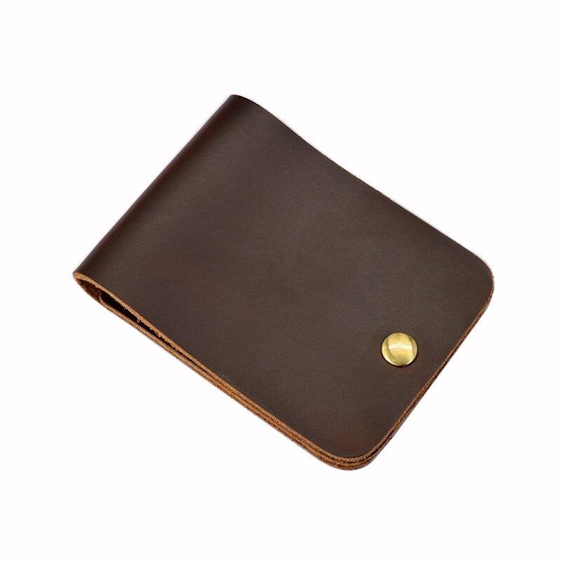Vache en cuir hommes porte carte bancaire Designer court portefeuille pour cartes de crédit de haute qualité Crazy Horse à la main carte organisateur couverture