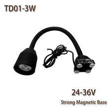HNTD 3W DC 24V/36V LED Soft Rod lamp Magnetic Base TD01 CNC Machine work light LED spotlights Cheap and fine Free shipping