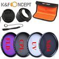 49mm UV CPL FLD Kit de Filtro de Densidade Neutra ND Fotografia kit filtro para sony nex-3 nex-5 nex-6 nex-7 dslr camera acessórios